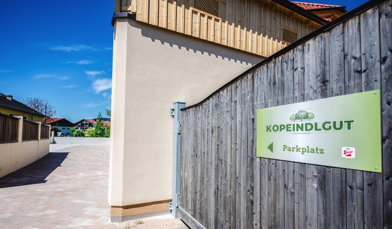 Kopeindlgut Wals bei Salzburg Parkplatz